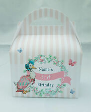Jemima Peter Rabbit Children's Personalised Beatrix Party Boxes Gift Bag Favour