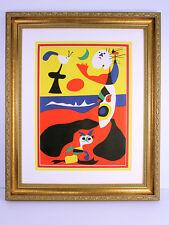 JOAN MIRO Original 1938 Color Lithograph SUMMER Framed COA High VALUE WOW