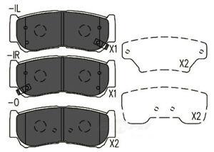 Disc Brake Pad Set-TSS Ceramic Pads Rear TD1297CH fits 07-09 Hyundai Santa Fe