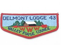 Boy Scout Delmont Lodge 43 Valley Forge Council OA Flap Patch BSA WWW