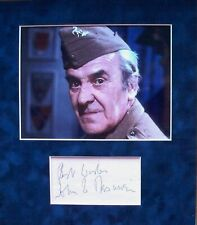 More details for john le mesurier: dad's army 'wilson'. signed album page mounted with photo. coa