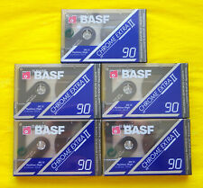 5x BASF Chrome Extra II 90 Cassette Tapes 1991 + OVP + SEALED +