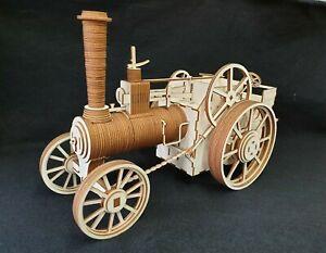 Laser Cut Wooden Traction Engine 3D Model/Puzzle Kit