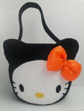 2009 Hello Kitty Plush Halloween Trick or Treat Candy Bucket Basket Collectible