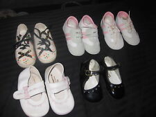 Lot of 5 Pair Little Girl Shoes Sizes 3 and 4 Babyking Tuti Fruti Cantabria NEW