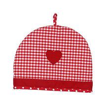 Dexam Vintage Home Claret Red 6 Cup Tea Cosy Cosie Cozy Teapot Warmer Gingham