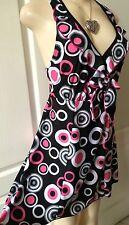 WOMENS PLUS SWIM SUIT 1X NEW BLACK ONE PIECE SWIM DRESS XL 14 16 NWT SPRING DEAL