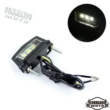 12V LED Motorcycle E-Marked Licence Plate Light Lamp Universal Fit Custom Motors