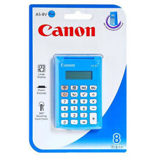 Canon As-8v Basic Blue Pocket Calculator (5475b001) VAT Included