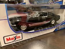 Maisto 1:18 Scale Diecast Model Car - 1967 Ford Mustang GTA Fastback (Black)