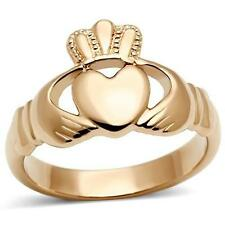 Gold Claddagh Costume Rings