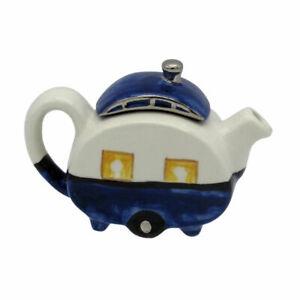 Caravan Teapot One Cup Teapot Blue & White Christmas Birthday Gift Ideas