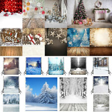 Merry Christmas Xmas Theme Snowy Day Photography Backdrop Background Studio Prop