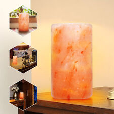 Himalayan Crystal Salt Lamp Hand Carved Candle Night Light Natural Air Purifier