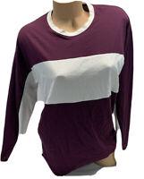 NWT victoria's Secret PINK long Sleeve Oversized Varsity Colorblock Tee Shirt S