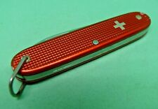 Victorinox 93mm Woodsman Swiss Army Knife in Red Alox with Bail old cross
