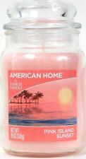1 American Home By Yankee Candle 19 Oz Pink Island Sunset Glass Jar Candle