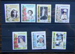 Barbuda 1985 85th Birth Birthday of Queen Elizabeth the Queen Mother set Used
