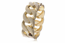 Fashion Bracelet Party Bangle Gift Jewelry New Faux Chain Large Chic Diva Golden