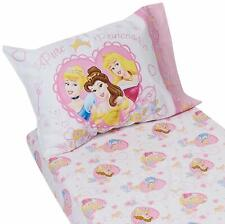 Disney Princess Toddler Bed Sheet Set Fitted & Pillowcase for Cot Mattress