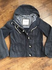 Abercrombie And Fitch Millerain Waxed Jacked Coat Blue Size Medium Women's