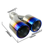 1 pair left and right Stamped AMG Oval Car Dual Exhaust tips for 2.5in inlet