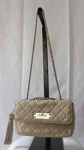 My Flat In London Jan Haedrich Ivory Quilted Purse With Chain Strap; NWT $285