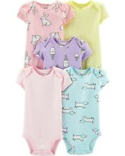 NEW 5 pack CARTER'S Bodysuits Shirts Tops SET Bunny Dog Ice Cream Cone 12 mo NWT