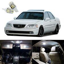 17 x Xenon White LED Interior Lights Package Kit For Acura RL 1999 - 2004