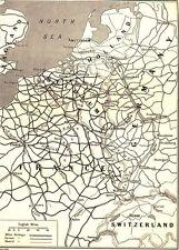 7x5 Photo ww1DAC World War 1 Map British & German Railway Supply Lines Wes 07