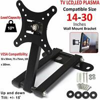 "TV Wall Bracket Tilt & Swivel For 14 15 18 20 22 24 25 28 30"" 3D LED LCD Plasma"