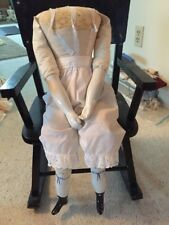 """~ Big! Beautiful Antique Style Vintage 26"""" China Doll Body For China Head Doll"""