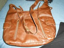 Faux leather super soft shoulder purse with zippers & snaps with heart charm