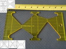 Quilting Template Ruler 5mm Triangles for Long Arm, High Shank Machines