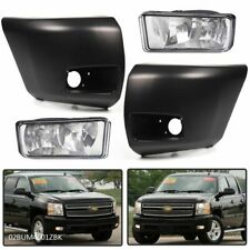 Front Bumper Driving Fog Light With Bumper End Fit For 07 13 Chevy Silverado1500 Fits 2013 Silverado 1500