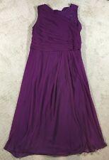 NWOT Women's Roamans Purple Sleeveless Lace Dress-Size 18W