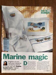 Marine / Sea Themed Cross Stitch Charts **from a magazine**
