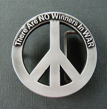 COOL PEACE SYMBOL NO WAR HIPPIE BELT BUCKLES BOUCLE DE CEINTURE