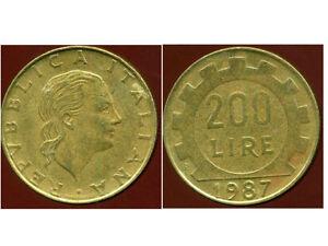 ITALIE   ITALY  200 lire 1987  ( bis )