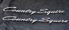 Pair OEM 1966 Ford Country Squire Quarter Panel Script Emblem C6AB-7129136-B