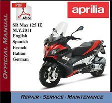 Aprilia SR Max 125 IE M.Y.2011 Workshop Service Repair Manual