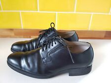 Clarks Cushion Plus Black Lace Up Leather Smart Shoes Mens Size 8 / 42 Oxford