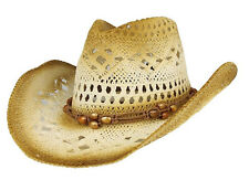 MG Unisex Outback Paper Straw Cowboy Hat #8173