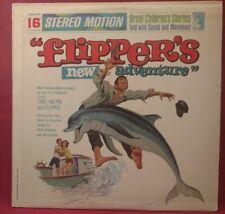 FLIPPER'S NEW ADVENTURE RARE MGM CHS-516 STEREO SOUNDTRACK LP! NM