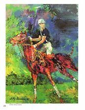 Original Vintage LEROY NEIMAN PRINT Book Plate 10x13 -Prince Charles, Polo Pony