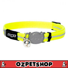 Rogz Alleycat Safeloc Collar Dayglo Yellow 11mm