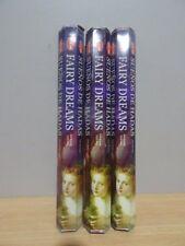 Fairy Dreams Incense  3 Packs x 20 Sticks   HEM Hex   Free Post AU