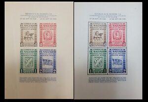 G)1946 EL SALVADOR, 4th CENT. OF SAN SALVADOR'S CITY CHARTER, SOUVENIR SHEETS, T