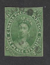 Canada No. 9 , 7 1/2 d Queen Victoria.  Strathroy MDX, U.C. 1858. F for issue.