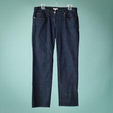 Eileen Fisher Womens Size 12 Blue Jeans Straight Leg Dark Rinse Wash Stretch